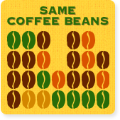 SAME COFFEE BEANS